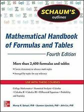 Schaum's Outline of Mathematical Handbook of Formulas and Tables, 4th Edition (S