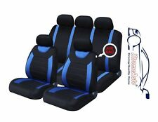 9 PCE Sports Carnaby Blue/ Black Full Set of CAR Seat Covers Fiat Panda Brava Br