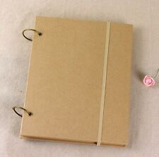 New A4 Kraft Cover Ring Binding 80 Blank White Paper Sheet Sketchbook Note Book
