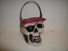Trick Or Treat Bucket Pirate Skull Halloween Candy Pail Rubies Costumes Haunting