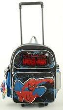 "The Amazing Spider-man Small 12"" Boys Rolling Backpack With Free Water Bottle"