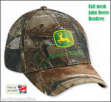 NEW FULL MESH JOHN DEERE REALTREE CAMOUFLAGE TRUCKER CAP CAMO HUNTING HUNTER HAT