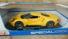 1:18 MAISTO *2017 FORD GT* = YELLOW = HIGH DETAIL DIECAST *NEW IN BOX!*