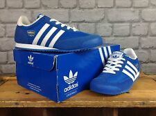 ADIDAS UK 5 EU 38 BLUE WHITE SUEDE DRAGON TRAINERS RRP £60 YOUTH BOYS LADIES