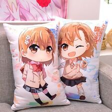 Anime Toaru Kagaku no Railgun Misaka Mikoto Dakimakura Cushion Pillow Case 2WT
