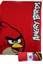 BRAND NEW ANGRY BIRDS RED BIRD FLEECE BLANKET 120CM X 150CM