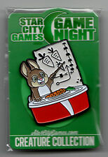 Bunny Pin Button *NEW IN PLASTIC* Starcity Games SCG Game Night TB123&124