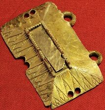 Medieval Ghotic  Gold Plated Silver Mantle Buckle, 13. Century