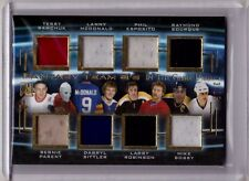 TERRY SAWCHUK PARENT SITTLER ESPOSITO 15/16 Leaf In The Game Used Jersey #/15