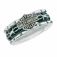 Franklin Mint Harley Davidson Rumble AND Roll Sterling Silve Women'S Ring SZ B