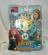 New DISNEY Pixar BRAVE Merida's Glowing Jewelry Set TIARA NECKLACE & EARRINGS