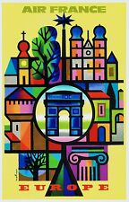 Air France airline issued poster style postcard =