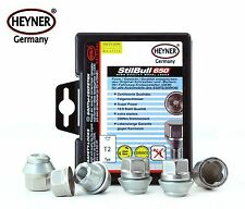 Ford Smax 2004-on HEYNER wheel locking nuts M12x1,5 anti-theft bolts for alloys
