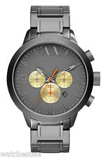 Armani Exchange Chronograph Grey Dial Gunmetal Ion-plated Mens Watch AX1279