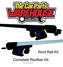 Full Roof Rack Bar Kit SUM520 Mountney WITH RAILS PEUGEOT 206 SW / Estate 02-10