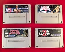 SUPER POWER LEAGUE 1 ~ 4 set Nintendo Super Famicom SNES SFC Japan FREE Ship
