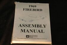 1969 PONTIAC FIRE BIRD ASSEMBLY MANUAL 100'S OF PAGES OF PICTURES, PART NUMBERS