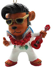 Hawaiian Christmas Poly Resin Ornament Elvis Bear Hawaii Santa Mele Kalikimaka N