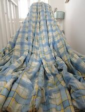 LAURA ASHLEY CURTAINS shabby cottage chic GINGHAM CHECK blanket interlined HUGE
