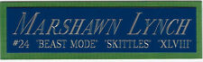 MARSHAWN LYNCH SEATTLE SEAHAWKS NAMEPLATE Signed FOOTBALL-HELMET-JERSEY-PHOTO