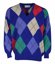 Mens Nick Faldo Pringle Sports Golf 100% Wool Jumper Sweater Size XXL