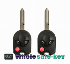 2 New Replacement 3 Button Uncut Remote Head Key Keyless Entry Fob for Ford
