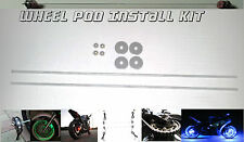 Wheel Pod Install Kit ~ Motorcycle Rim Center Accent Lighting Installation Rods