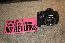 Canon EOS Rebel T4i / 650D 18.0 MP Digital SLR Camera (Body Only)FOR PARTS 06165