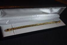 """BN 9ct gold venetian link square link 7 1/2"""" bracelet"""