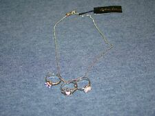Cookie Lee Princess Removeable Rings Pendant Necklace  NWT