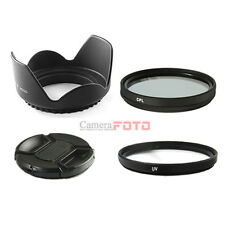 52mm UV+CPL+cap+ HOOD SET FOR nikon d3100 18-55 lens d5100 d5000 UK