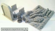HC3D - Bunker and Sandbags  - Terrain Scenery WarGames - 40k - 28mm