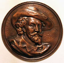 Petrus Paulus RUBENS COPPER Wall PLAQUE, High Relief Peter Paul Rubens Portrait