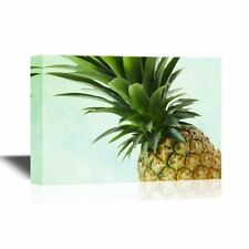 wall26 - Canvas Wall Art - Pineapple Closeup - Ready to Hang - 12x18 inches