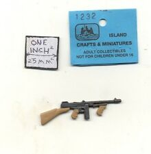 Thompson Sub machine Gun dollhouse 1/12 scale cast metal miniature ISL1232