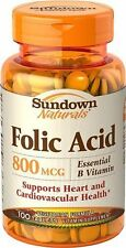 Sundown Folic Acid 800mcg Tablet 100ct