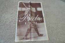 THE BABE HITS 100 Commemorative Section The Baltimore Sun Feb. 3, 1995