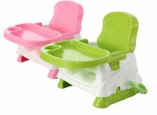 BRAND NEW IN BOX PINK/GREEN LUXURY FOLDABLE PORTABLE BABY BOOSTER HIGH CHAIR