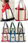 Heavy Cotton Reinforced Canvas XL Beach Boat Tote Bag Picnic Swim Gym NEW!