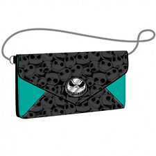 The Nightmare Before Christmas Women's Envelope Chain Jack Face Wallet Purse NEW