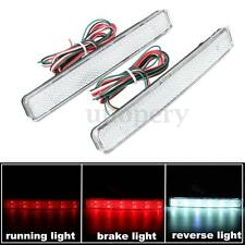 Pair for VW Transporter T5 white Rear Bumper Reflector LED Tail Stop Brake Light