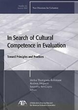 In Search of Cultural Competence in Evaluation: Toward Principles and -ExLibrary