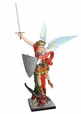 Saint Michael fiberglass statue cm. 160 with sword