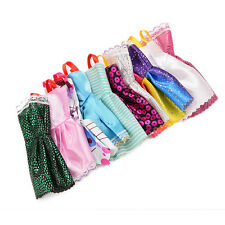 5Pcs Sorts Handmade Party Clothes Fashion Dress For Barbie Doll Best Gift Toys!