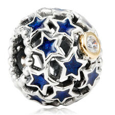 Authentic PANDORA Sterling Silver 14k Gold Night Sky Charm 791371CZ