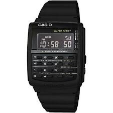 Casio CA506B-1A Black Stainless Steel Calculator Watch - Vintage Style BLACKOUT