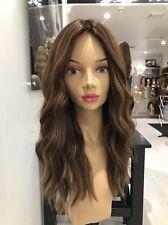 Yaffa Wigs Ready To Wear Brown Human Hair Long Skin Pony Wig