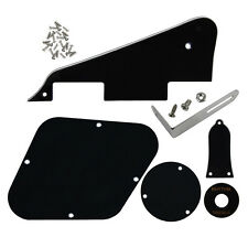 Black Color 3Ply LP Guitar Pickguard Set Scratch-plate for Les Paul Guitar