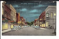Cut Rate & Rexall Drug Stores on Main Street at Night  Greenville  PA Penn