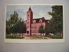 VINTAGE EMBOSSED POSTCARD UNIVERSITY OF MONTANA, MAIN BUILDING, MISSOULA, MT